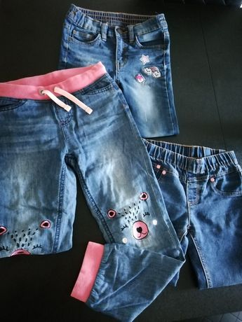 Spodnie dziewczęce 116-122