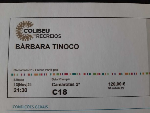 Concerto Bárbara Tinoco Lx