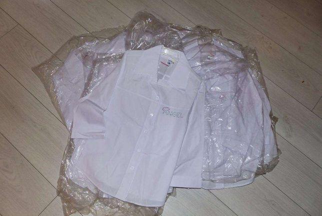 Wyprzedaż UBRAŃ NOWE białych bluzek dziecięcych wór z bluzkami okazja
