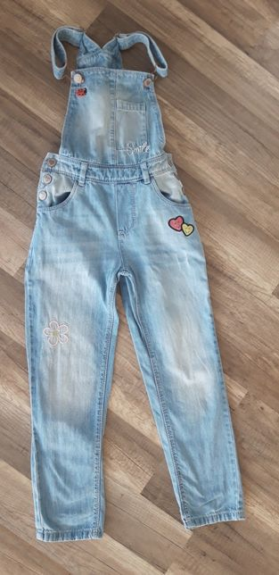 Ogrodniczki miękki jeans 128