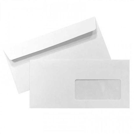 Envelope DL Com Janela 110x220 Silicone 90gr - Caixa 500 Unidades