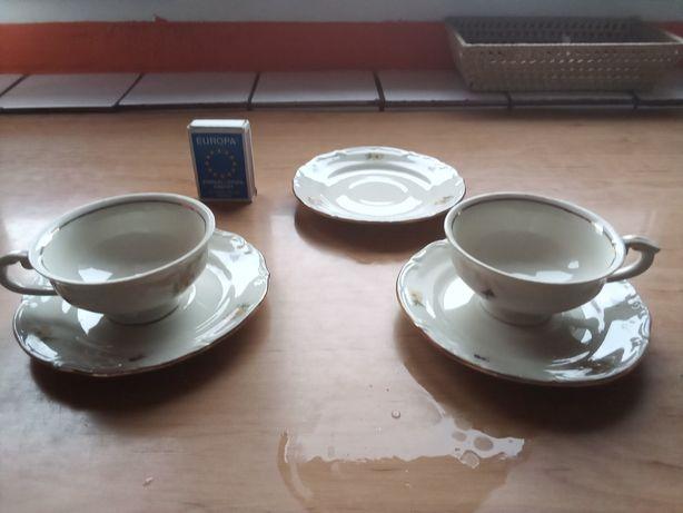 Prl Filiżanki że spodkami espresso Tułowice porcelana
