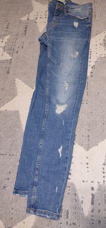 Spodnie damskie jeansy Zara