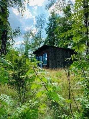 Działka z domkiem na wzgórzu , Idealna na nowy dom-Park Krajobrazowy