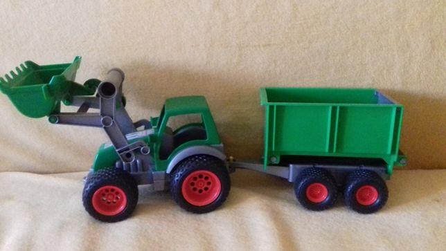 Zabawka, traktor,samochód, przyczepa