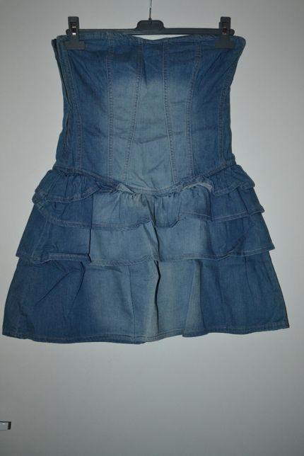 Sukienka jeansowa bez ramiączek Orsay r. S