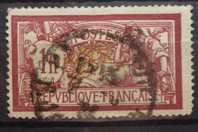 Znaczki pocztowe - Francja rok 1900 Mi 98 kasowany, z podlepką
