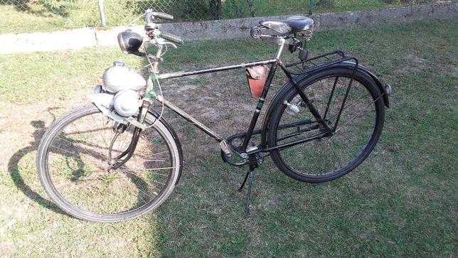 Rower Nsu z silnikiem Berini M13 nieużywanym zabytkowy zabytek antyk