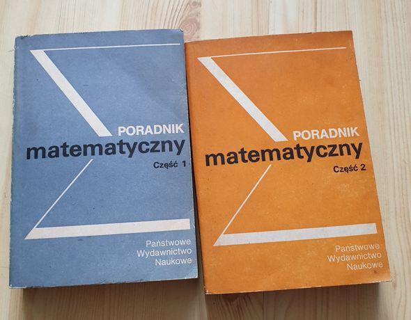 Książki Poradnik Matematyczny 2 części