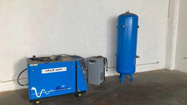Compressor, secador e depósito de ar comprimido