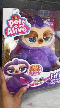 Интерактивный Ленивец Pets & Robo Alive (оригинал) мягкая