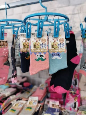Bawełniana skarpetka dla dziewczynki