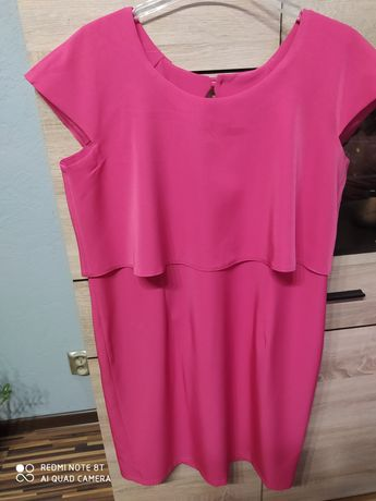 Śliczna koktajlowa sukienka r. 46-48