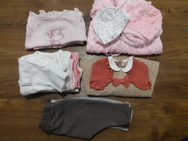 Ubranka 56, body, spodnie, pajac, sukienka, kombinezon, czapeczki