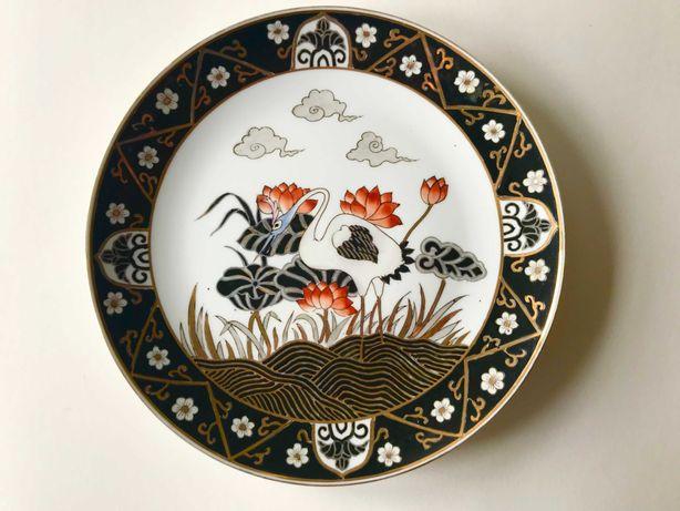 Prato de Porcelana Chinesa - Motivos Aves