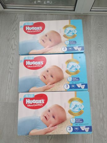 Памперсы подгузники Huggies Ultra Comfort Box для мальчик 3  112шт