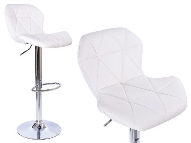 Hoker Gordon Biały krzesło obrotowe regulowane do jadalni kuchni wyspy