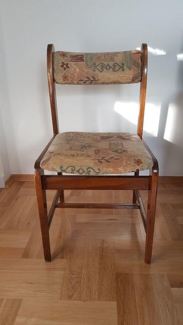 Krzesła PRL tapicerowane