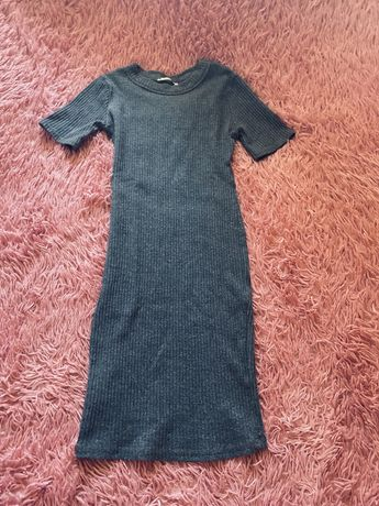 Zara платье в рубчик