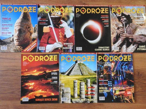 Podróże magazyn turystyczny zestaw 7szt 1999r