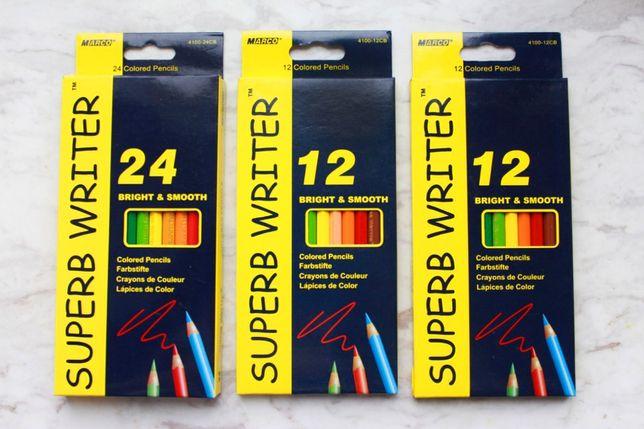 Новые цветные карандаши MARCO Superb Writer 12 цветов и 24 цвета