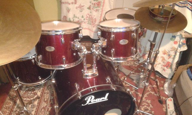 Pearl bebny perkusja  pelny zestaw - lub zamiana na gitara elektryczna