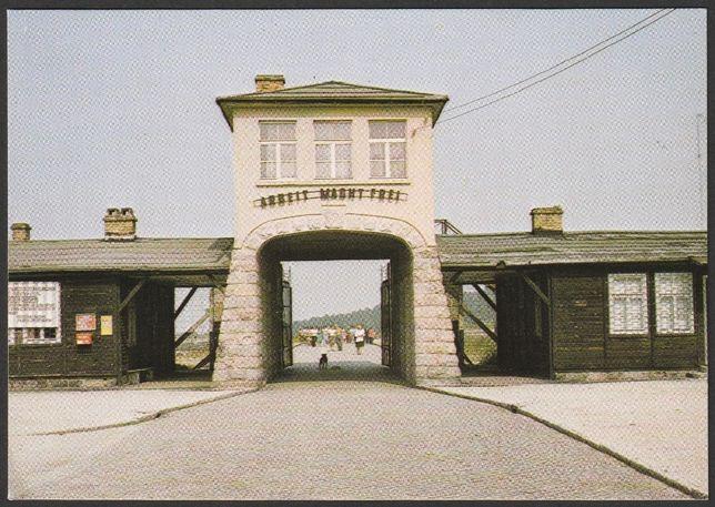 pocztówka - Rogoźnica 1979 - obóz koncentracyjny Gross Rosen - brama