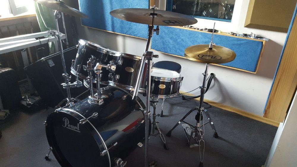PEARL lata 90',drewno mahoń-komplet-perkusja nastrojona!