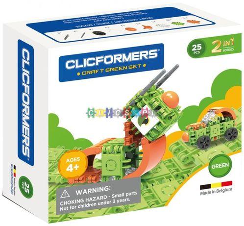 Klocki Clicformers Zielone Green 25 elementów