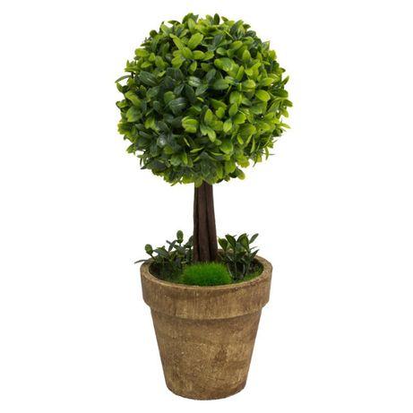 Sztuczne drzewko dekoracyjne bukszpan w doniczce 30 cm UC30506