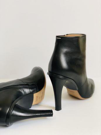 Женские кожанные брендовые ботиьоны 38, 39 р., жіночі шкіряні черевики
