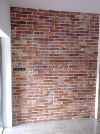 Płytki ceglane z cegły rozbiórkowej loft