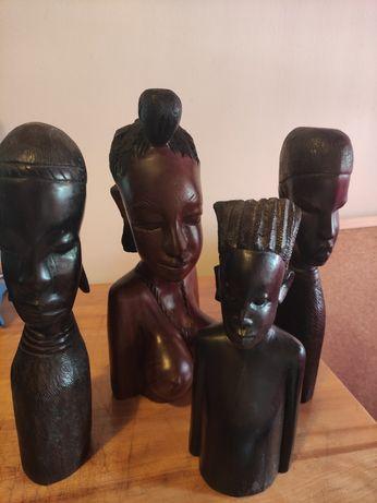 Esculturas/estatuetas Africanas em pau preto