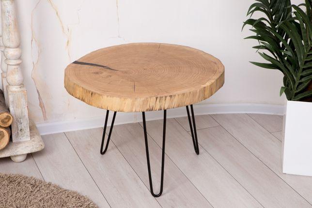 Стол со среза дуба 65 см