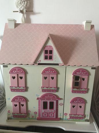 Duży drewniany domek dla lalek ELC mothercare
