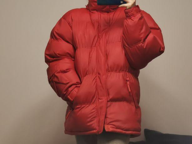 Czerwona kurtka zimowa Avalanche puchowa oversize modna damska długa