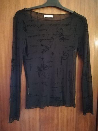 Blusa transparente Promod e lenço vintage
