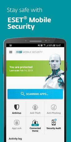 Защита антивирус на 1 год для смартфонов андроид. Eset mobile security
