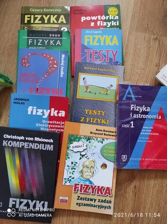 Książki z fizyki, zbiory zadań, repetytoria