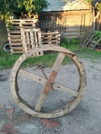 Koło Drewniane 108 cm Przekładnia Kierat Młyn