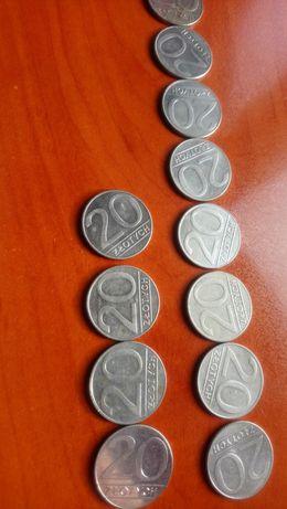 Moneta 10zł (1988r) i 20 zł (1989/1990)