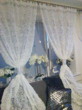 Firany 3d w wypukłe róże z cyrkoniami błyszczące glamour śliczne nowe