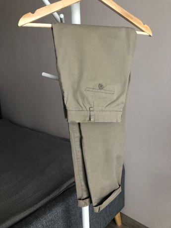 Spodnie chinosy chino khaki beżowe 36 S