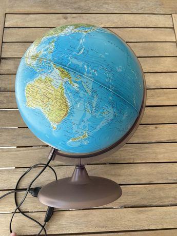 Candeeiro Globo terrestre com luz || NOVO
