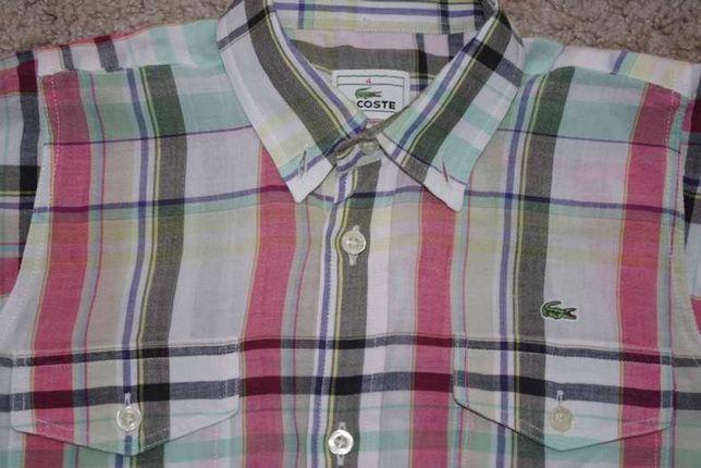 Lacoste koszula 4 lata 104 krata polo kratke