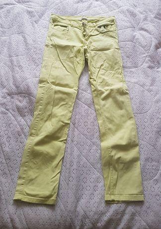 Spodnie rurki żółte kanarkowe
