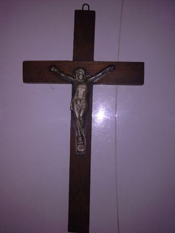 Stary drewniany krzyż krzyżyk 23cmx13cm