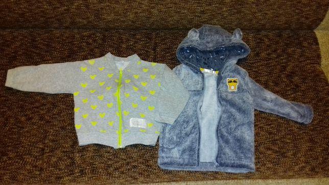 bluza chłopięca rozmiar 80 i 92 -dwie sztuki