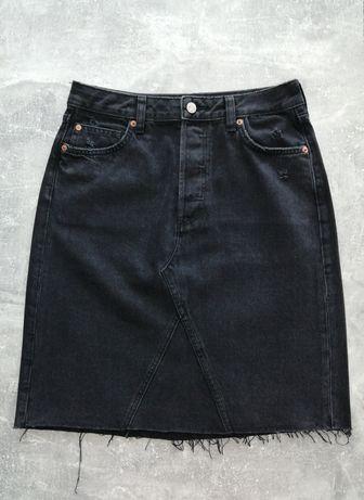 Spódnica jeans H&M 38 wysoki stan