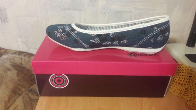 женские летние текстильные новые туфли ronzo р 38 цвет синий мульти